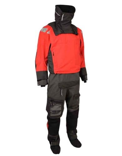 Typhoon PS440 Hinge-Entry Drysuit in Red